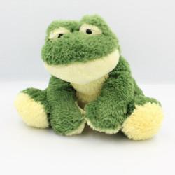 Doudou marionnette grenouille verte AJENA