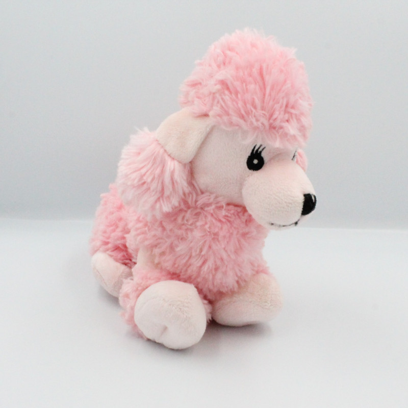 Doudou peluche chien caniche rose GIPSY