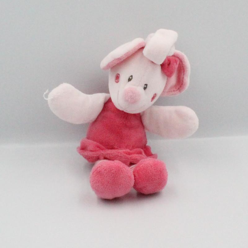 Doudou Mimi la souris rose NICOTOY KIABI