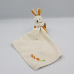 Doudou lapin orange blanc...