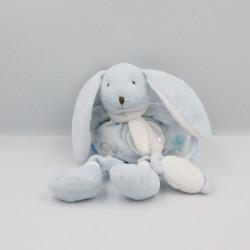 Doudou pantin lapin bleu...