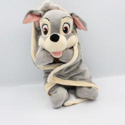 Doudou peluche chien Clochard avec couverture DISNEY