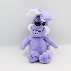 Doudou lapin violet mauve MILKA