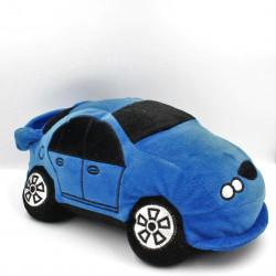 Doudou peluche voiture bleu noir BABOU