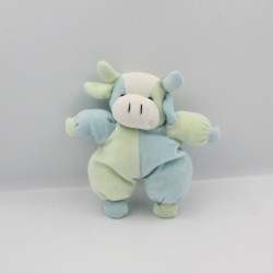 Doudou vache bleu vert CP INTERNATIONAL