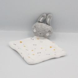 Doudou plat lapin gris blanc SIPLEC