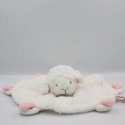 Doudou et compagnie plat mouton blanc rose