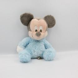 Peluche baby Mickey bleu grelot DISNEYLAND