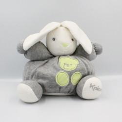 Doudou lapin blanc gris vert pois Zen KALOO