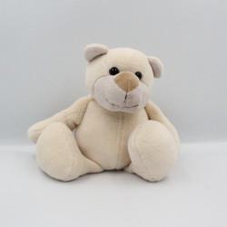 Doudou peluche ours blanc beige MINIFEET