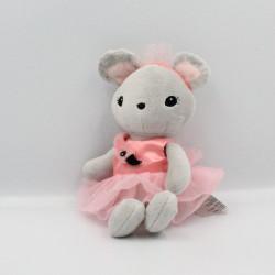 Doudou souris grise rose tutu rose flamand H ET M H&M