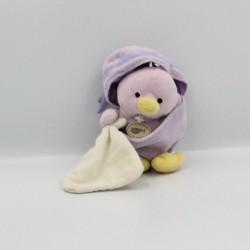 Doudou poussin mauve coquille avec mouchoir BABY NAT