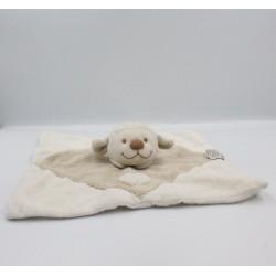 Doudou plat mouton agneau blanc beige coeur NATTOU