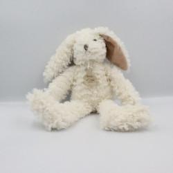 Doudou lapin blanc beige HISTOIRE D'OURS 35 CM