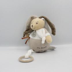 Doudou et compagnie musical lapin blanc gris marron LA GRANDE RECRE