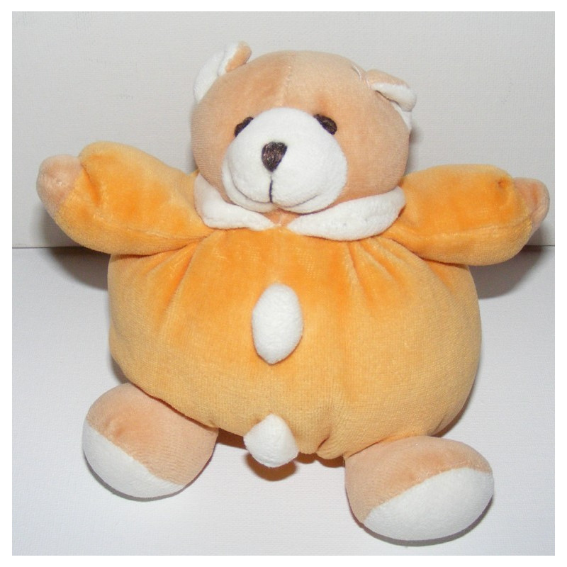 Doudou ours boule orange MUTUELLE OCIANE