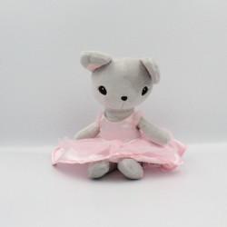 Doudou souris grise robe rose H ET M H&M