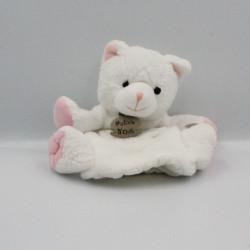 Doudou marionnette chat blanc HISTOIRE D'OURS