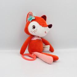 Doudou musical renard rouge orange Alice LILLIPUTIENS