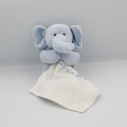 Doudou éléphant bleu mouchoir MAXITA