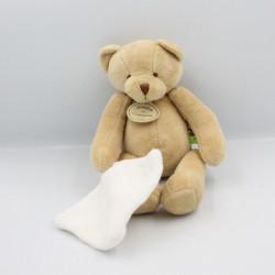 Doudou et compagnie ours beige mouchoir TATOO