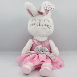 Peluche lapin blanc robe tutu rose ANIMAL ADVENTURE