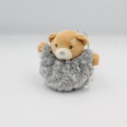 Mini Doudou ours boule gris fourrure Fur KALOO