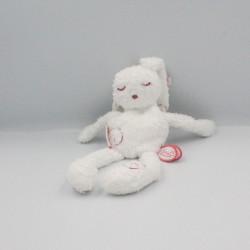 Doudou lapin blanc rose POE DIMPEL