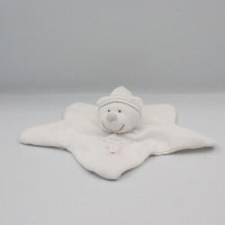 Doudou plat étoile ours blanc les petits pois du poulailler NICOTOY