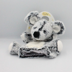Doudou marionnette souris gris blanc flocons Baby nat
