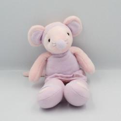 Doudou souris rose mauve ballerine