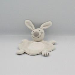 Petit Doudou plat lapin gris blanc