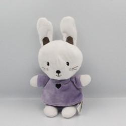 Doudou lapin blanc violet NICOTOY