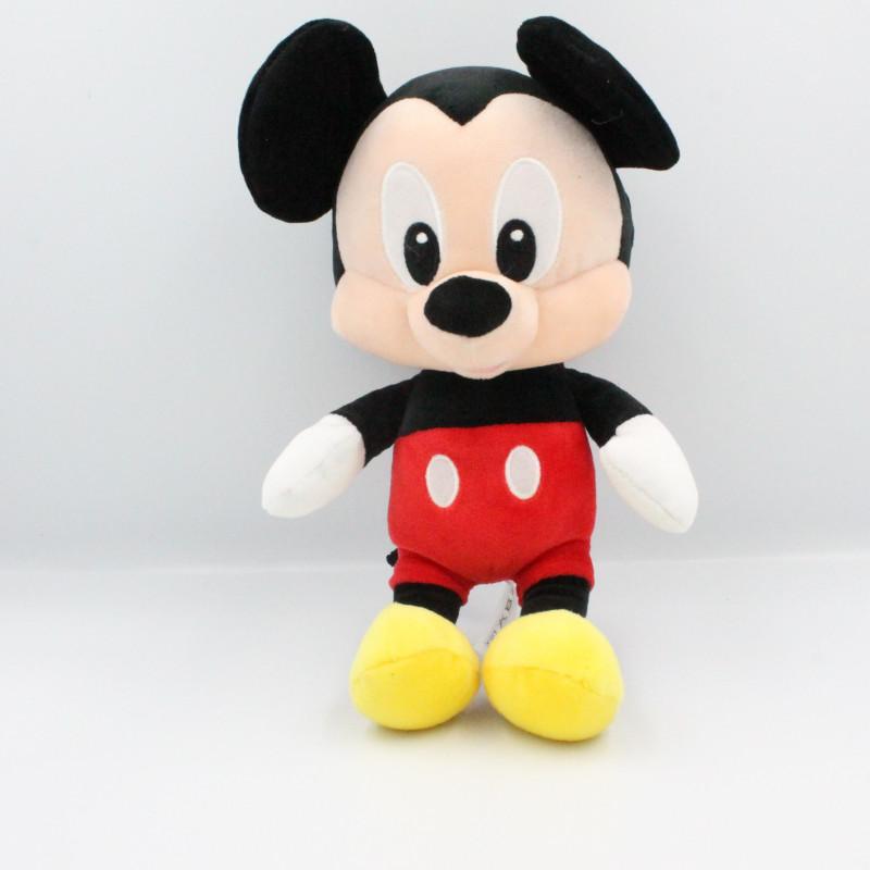 Doudou peluche bébé Mickey noir rouge jaune DISNEY NICOTOY