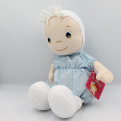 Doudou poupée bleu pois LA NINA