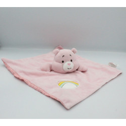 Doudou plat ours rose Bisounours CARE BEARS BABY