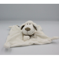 Doudou plat mouton blanc bandanas gris TEX BABY