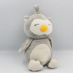 Doudou hibou chouette gris blanc KELLYTOYS