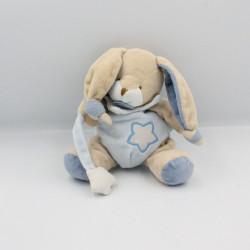 Doudou luminescent lapin beige bleu étoile BABY NAT