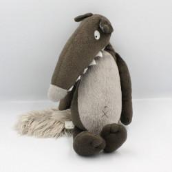 Doudou loup marron gris AUZOU