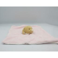 Doudou plat chien rose étoile NOUKIE'S