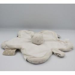 Doudou plat étoile ours gris beige NOUKIE'S