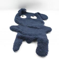 Doudou plat chien lapin bleu marine rayé NOTSOBIG