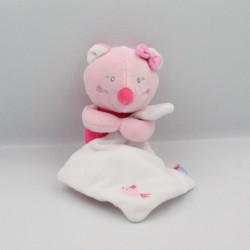 Doudou souris rose mouchoir oiseau SUCRE D'ORGE