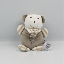 Doudou hochet ours blanc gris Dodo d'amour MGM
