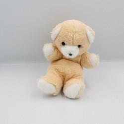 Doudou peluche ours orange blanc NOUNOURS Boutique