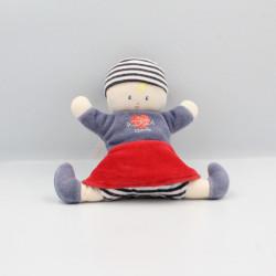 Doudou poupée fille bleu marin jupe rouge poisson COROLLE