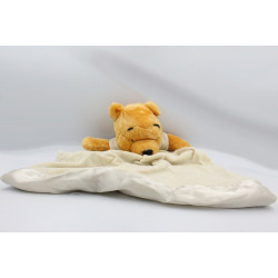 Doudou Winnie l'ourson couverture écru beige DISNEY