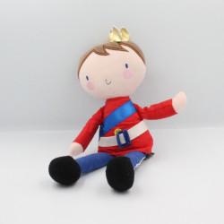 Doudou poupée roi prince rouge blanc bleu ORCHESTRA PREMAMAN