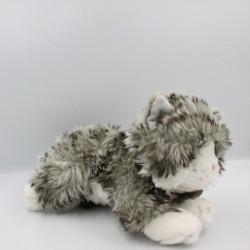 Peluche chat gris blanc tigré Kayla KEEL TOYS